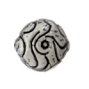 SS.925 Bead Round Flat Swirls 16mm